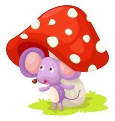 Rat with mushroom vector