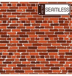 Seamless texture of brown realistic old brick wall vector image