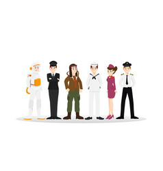 Set of different career professional people vector