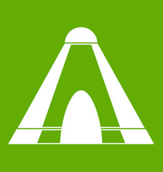 Tepee icon green vector