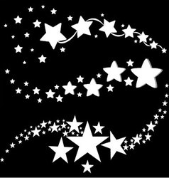 white stars icons vector image vector image
