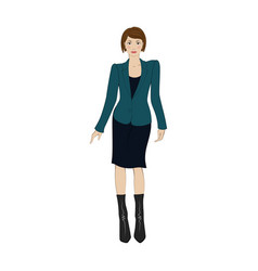 Women in elegant office clothes flat icon vector image vector image