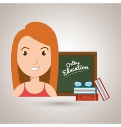 woman student online education vector image