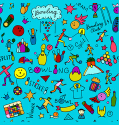 Bowling seamless pattern for your design vector