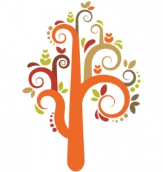 Decorative tree pattern vector