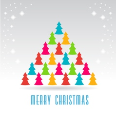 Trees christmas tree card vector
