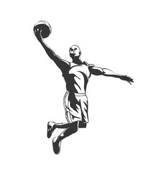 backetball silhouette vector image