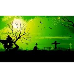 Haunted Halloween House vector image