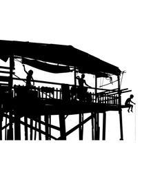 Waterside shack vector image