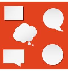 Trendy speech bubbles set in flat design for web vector image