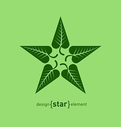 Abstract design element star with green summer vector
