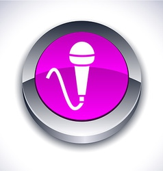 Mic 3d button vector