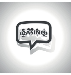 Curved casino message icon vector
