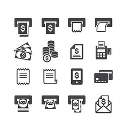 Bill and money icon vector