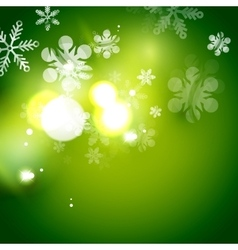 Holiday green abstract background winter vector