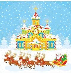 Christmas Sleigh of Santa vector image