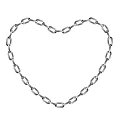 Chain in shape of heart vector image