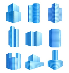 Office buildings vector