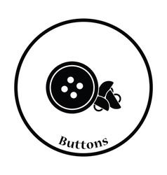 Sewing buttons icon vector