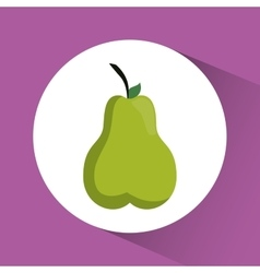 Pear icon nutrition and organic food design vector