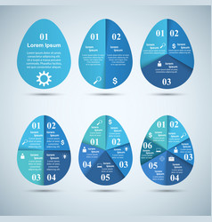 abstract 3d digital infographic egg vector image vector image