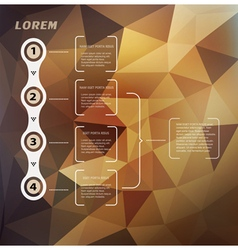 Abstract background with triangles and infographic vector