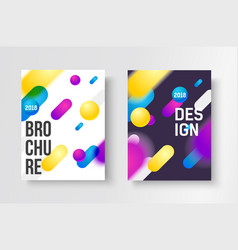 abstract business brochure design template vector image