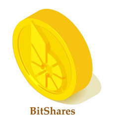 bitshares icon isometric style vector image