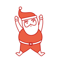 christmas happy santa claus jumping celebration vector image