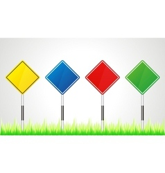 collection of road signs vector image vector image