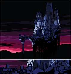 Dark Castle vector image