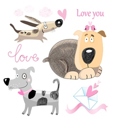 Dog lovers set vector image vector image