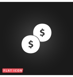 Dollars money coin icon - vector image