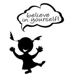 doodle kids with speech bubble with message vector image vector image