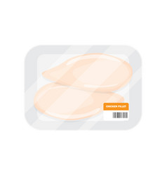 Fillet of chicken in the package vector