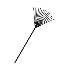 Garden rake black simple icon vector