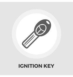 Ignition key flat icon vector
