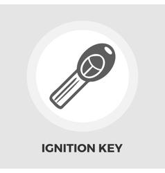Ignition key flat icon vector image