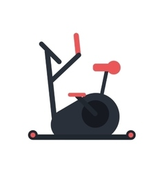 Isolated bike of fitness gym vector