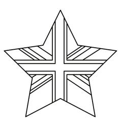 Isolated united kingdom star design vector image