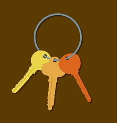 Keys In A Bunch vector image