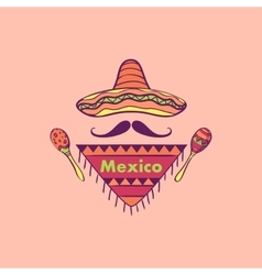 Mexican label and emblem vector