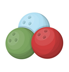 multi colored bowling ballsbowling fun at the pub vector image