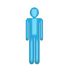 object blue man symbol vector image vector image