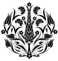 Oriental ottoman design black vector