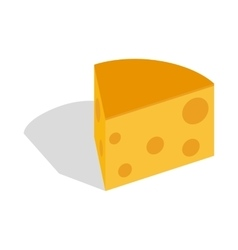 Piece of cheese icon isometric 3d style vector