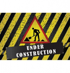 road works background vector image