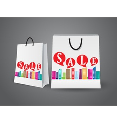 Sale design with shopping bags vector