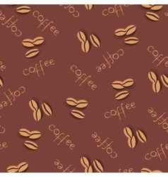 Seamless coffee pattern in pale beige colors vector image