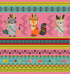 seamless pattern with tribal design vector image vector image